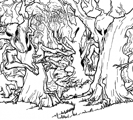 Forest Coloring Pages Coloring Rocks Forest Coloring Pages Coloring Pages Haunted Forest