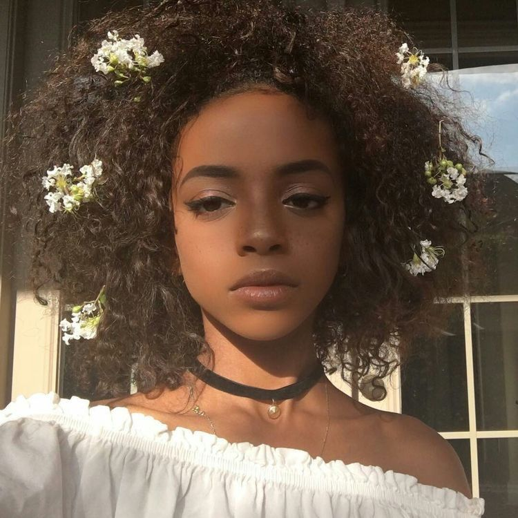 Image result for black girl aesthetic flowers