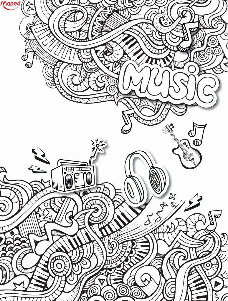 Musical Coloring Pages for Adults in 2020 Music coloring