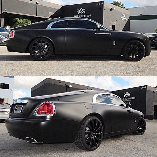 """@theautofirm • Satin Black #RollsRoyce Wraith On #Avorza"