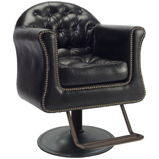 Sovereign Styling Chair Tuxedo Edition in Antique Black - Sovereign Styling Chair Tuxedo Edition In Antique Black Salon
