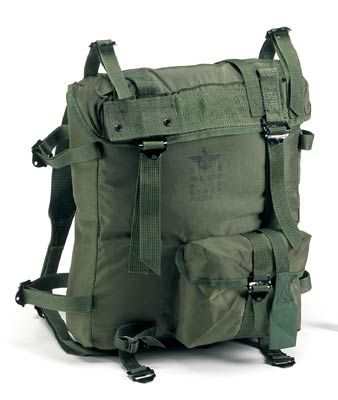 586c50b01 Olive Drab Korean Army Surplus Nylon Backpack - Used In Very Good  Condition. Water Repllent Coated Nylon. Dimensions 14