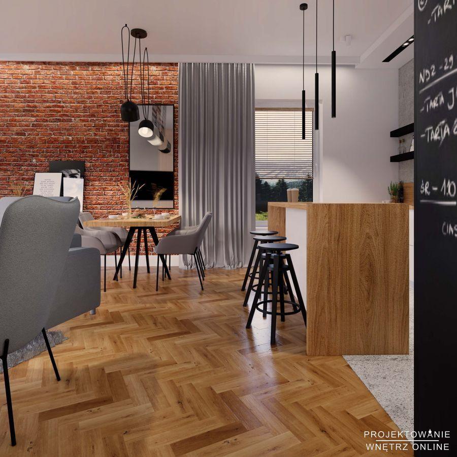 Kuchnia Polaczona Z Salonem W Stylu Industrialnym Home Decor Room Home