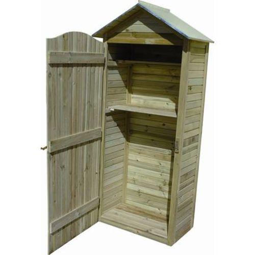 Jardipolys Grande armoire de jardin en Pin 204x90x58cm - pas cher