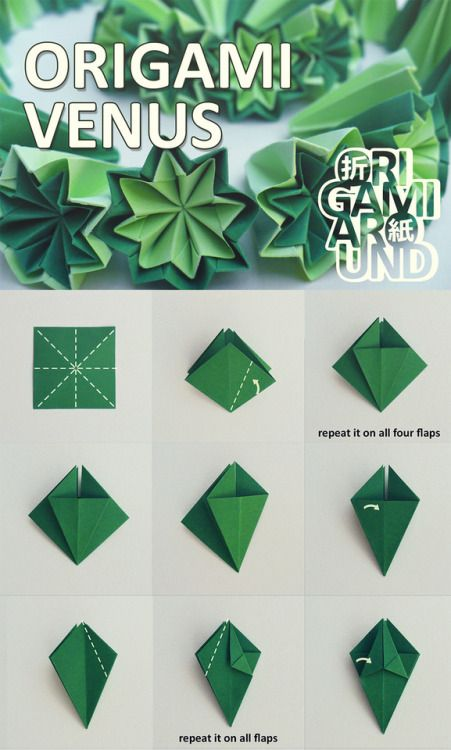 How To Make An Origami Venus Kusudama Cactus The Whole Tutorial