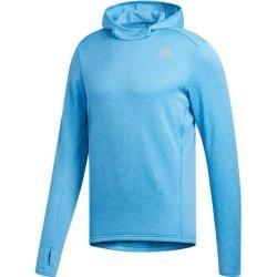 Photo of Felpa con cappuccio da running da uomo di Adidas Response, taglia M in azzurro, taglia M in adidas azzurro