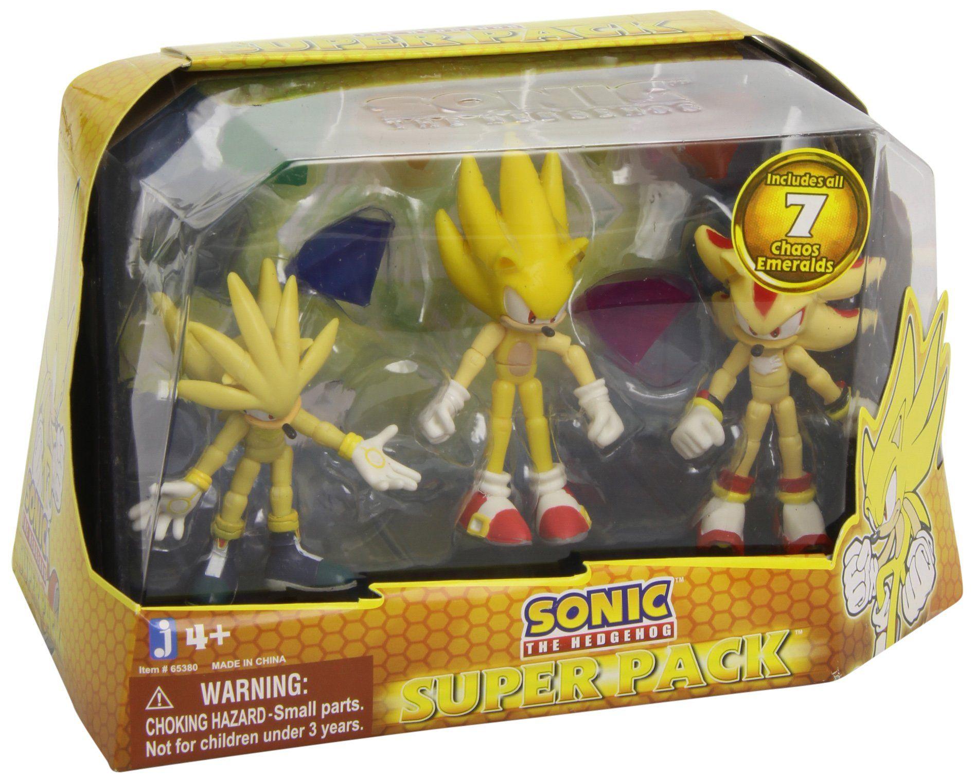 sonic the hedgehog super pack action figures super silver