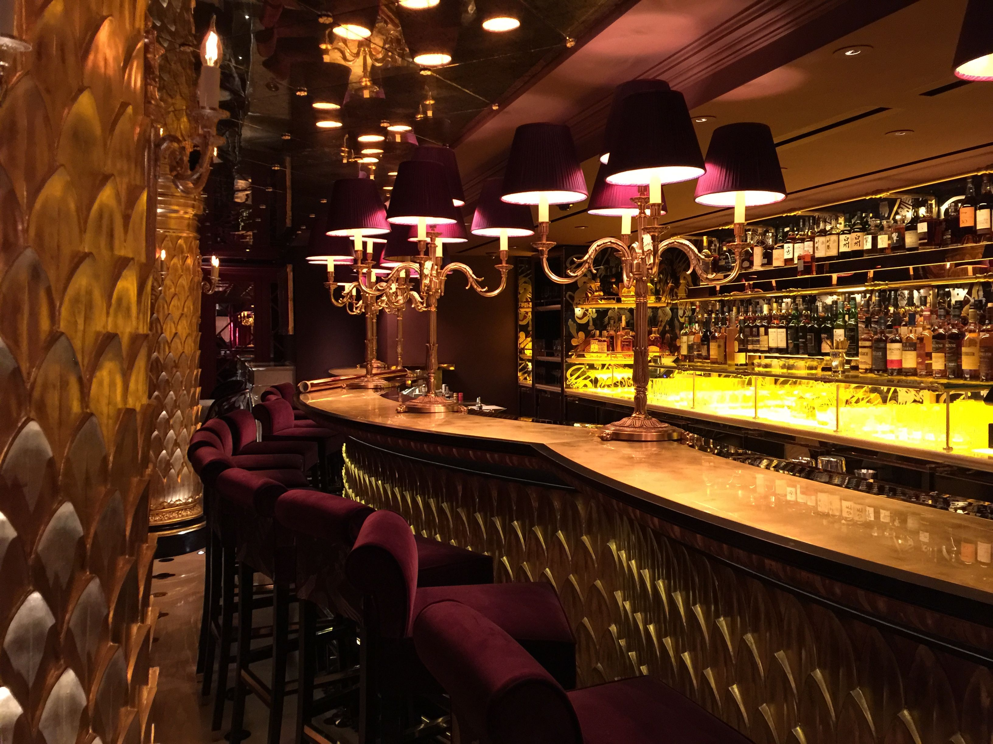 Home luxury romantic restaurant interior design of asia de cuba at - Bar At Park Chinois London With Lighting By Light Iq