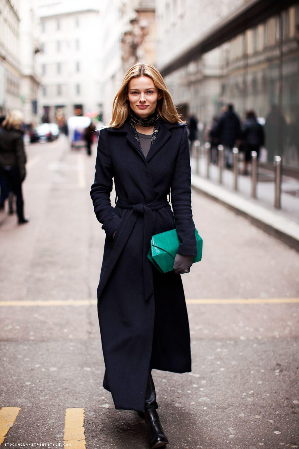 Long Black Womens Coat