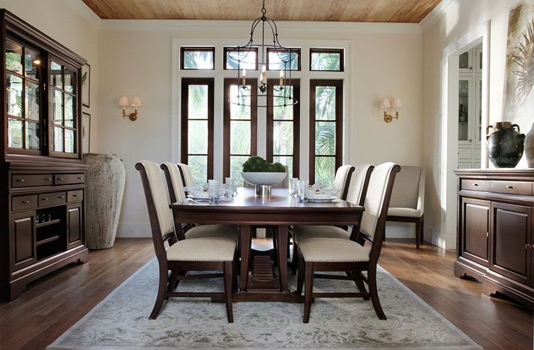 White Upholstered Dining Chairs And Table  Home Deco Pinterest Glamorous Upholstered Dining Room Chairs Design Ideas