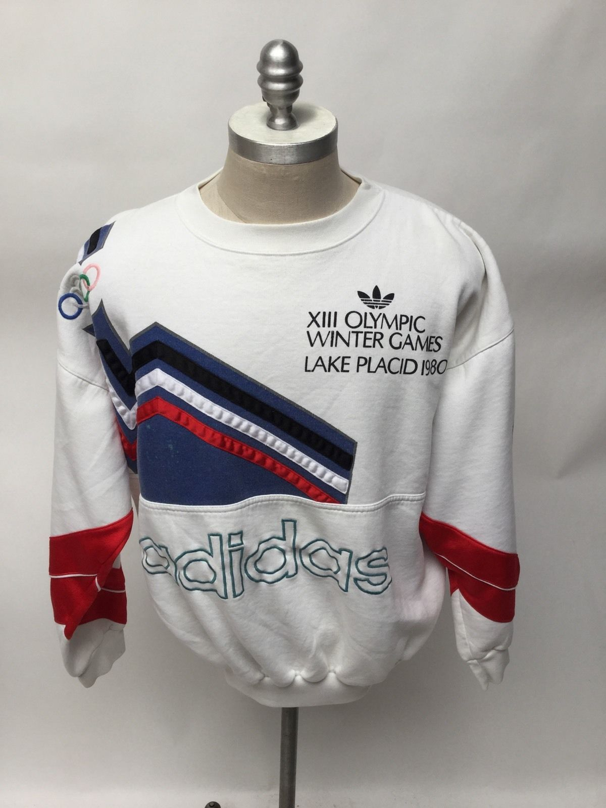 Vtg Adidas Lake Placid 1990 Sweatshirt 80s Olympics