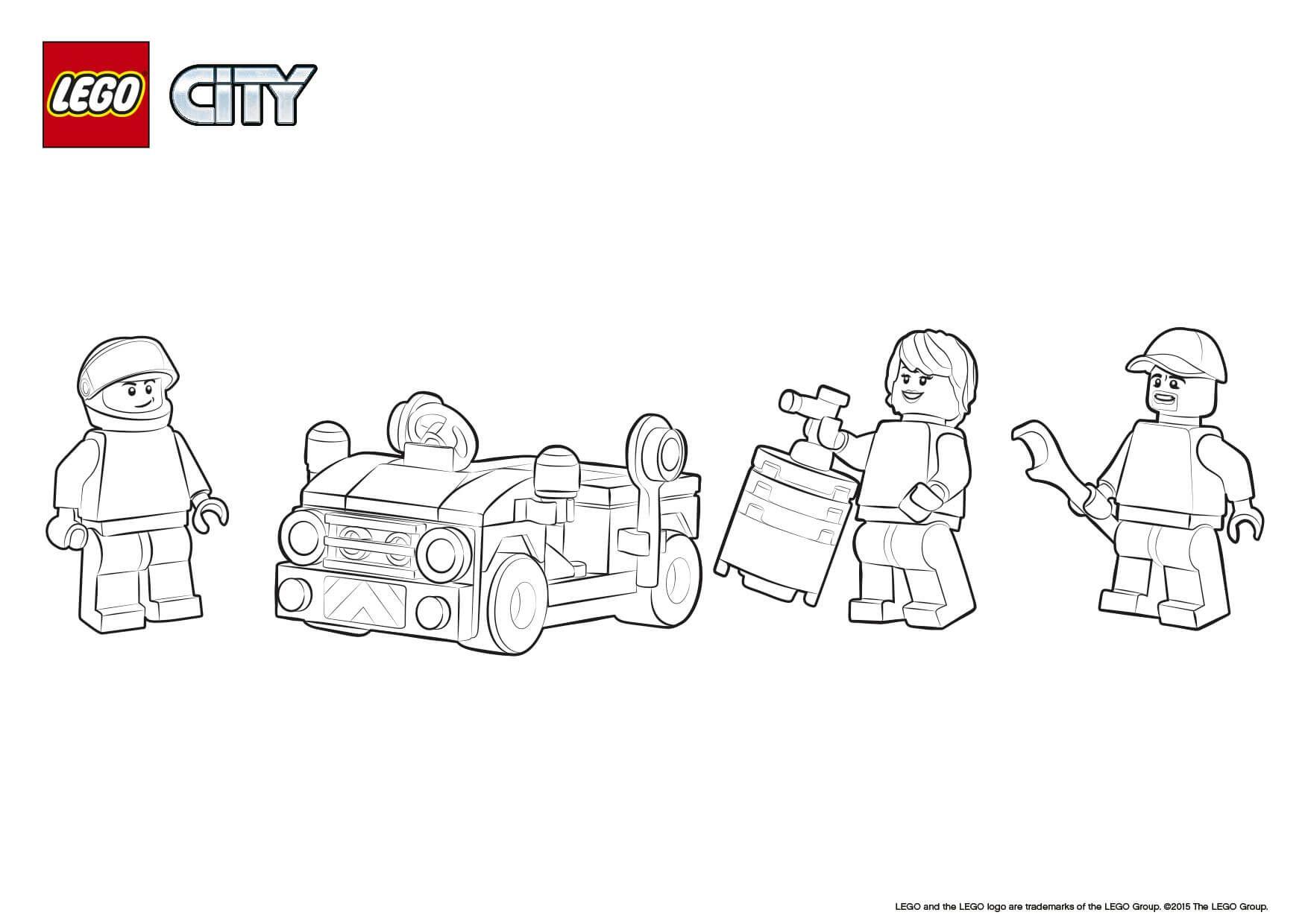 Training Jet Transporter Lego Coloring Sheet