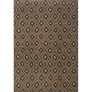 @Overstock - Featuring a durable yet soft nylon construction, this beautiful rug will make a wonderful addition to any room. This area rug showcases a stunning geometric diamond motif in shades of grey, brown, ivory, and blue. http://www.overstock.com/Home-Garden/Indoor-Grey-and-Brown-Geometric-Area-Rug-78-X-1010/7714435/product.html?CID=214117 $509.39