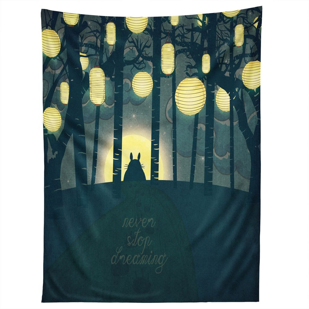 Belle totoros dream forest tapestry home belle and forests