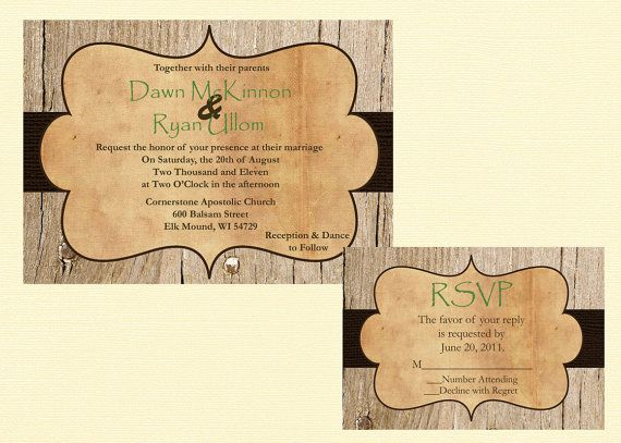 Western Wedding Invites: Custom Rustic Wedding Invitation, Vintage Wedding