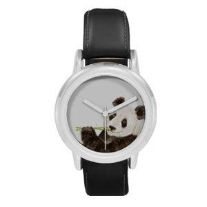 Cute Watercolour Panda Art Wristwatch