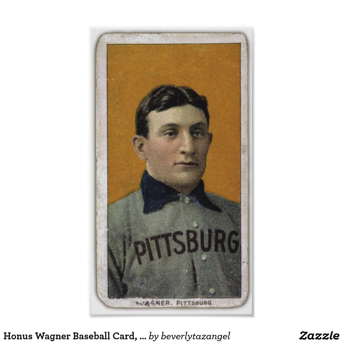 Honus wagner baseball card t206 poster baseball cards