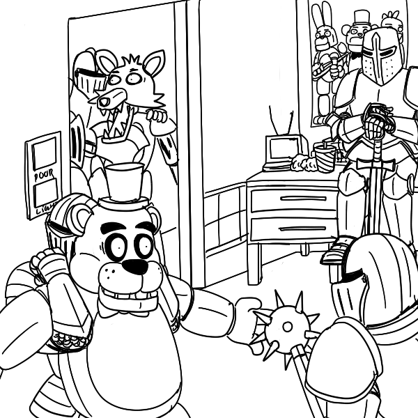 fnaf coloring pages coloring pages