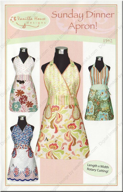 sewing patterns | ON SPECIAL...Sunday Dinner Apron sewing pattern ...