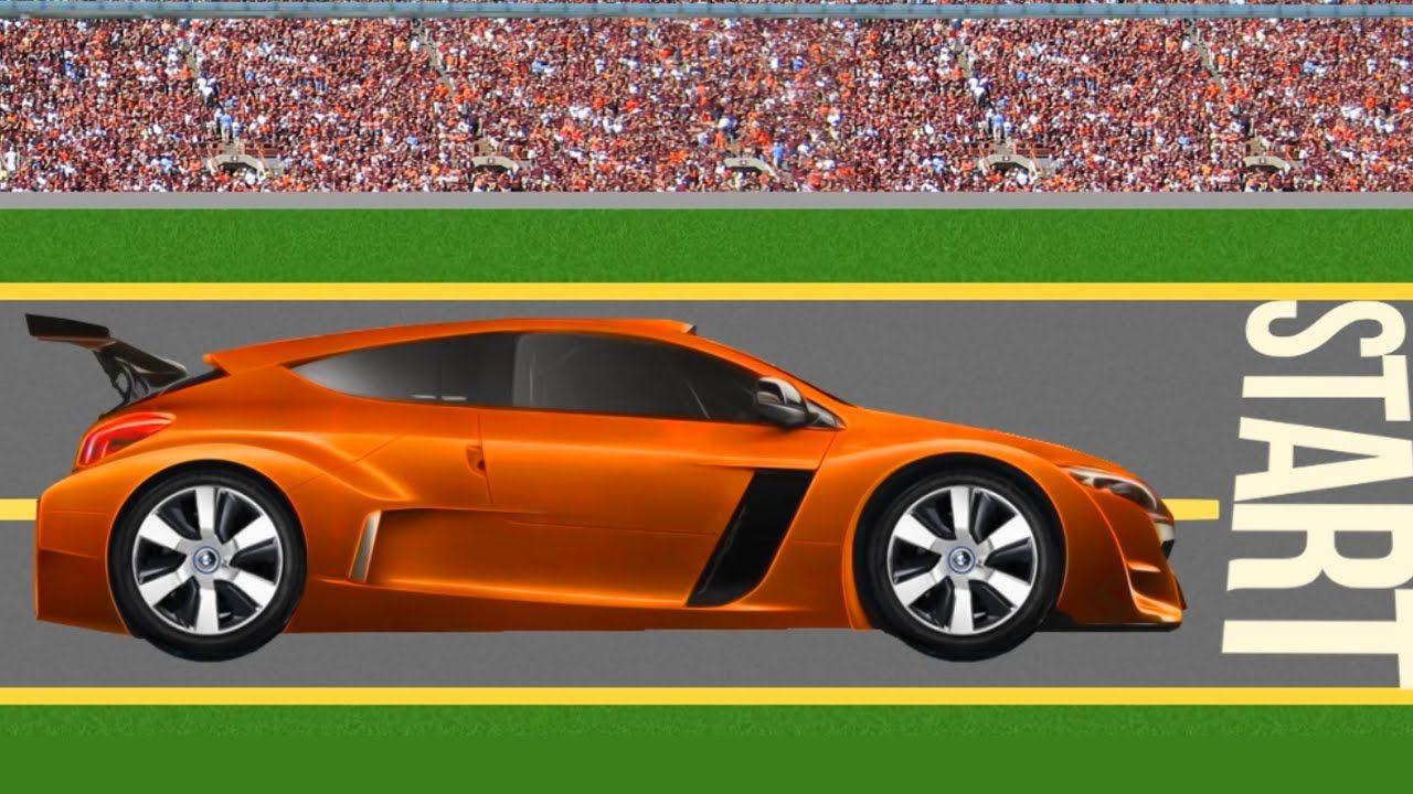 Машинки для детей Оранжевая гоночная машина Мультик пазл ...