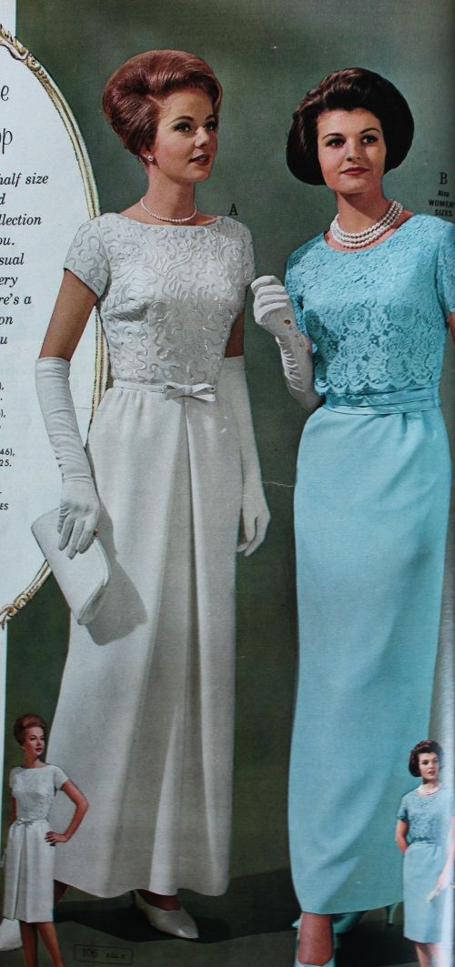 1960s Evening Dresses Bridesmaids Mothers Gowns 1960s Fashion