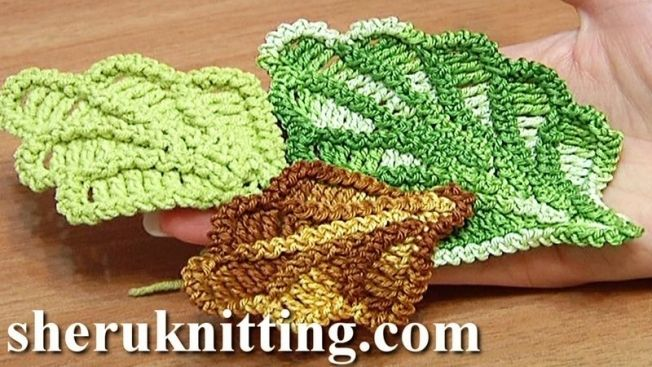 How To Crochet Oak Leaf Tutorial 16 Crochet Leaves Pinterest