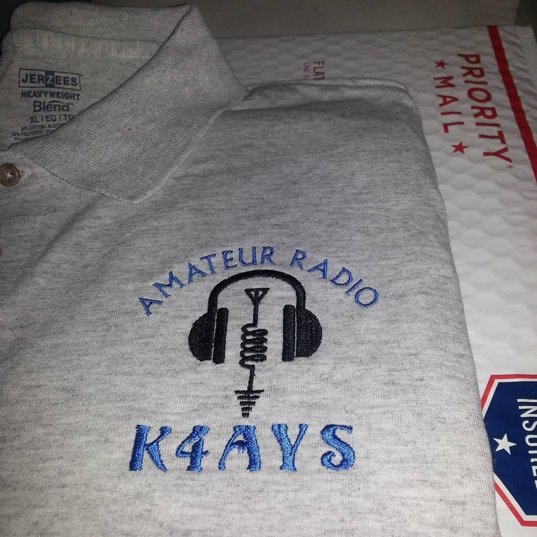 Ham radio shirt e21 classy custom embroidered polo or