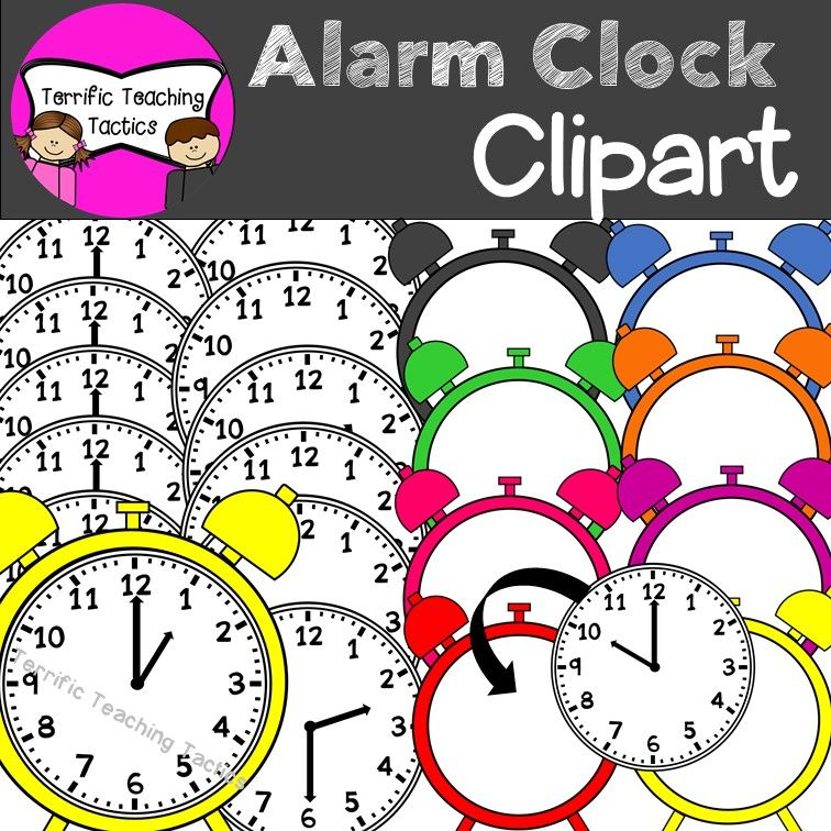Alarm Clock Clip Art Telling Time To The Hour Half Hour Clip