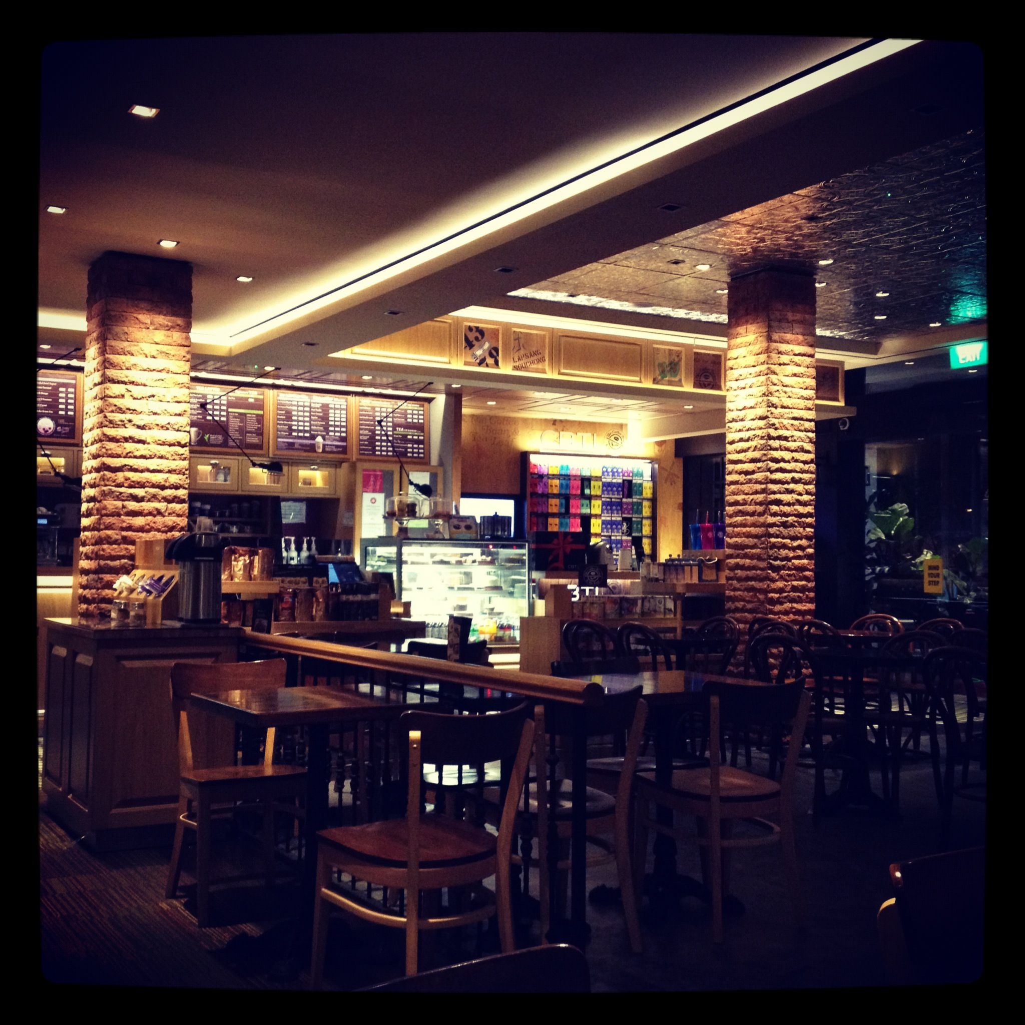 Coffee Bean at Holland V on a beautiful and tranquil night.