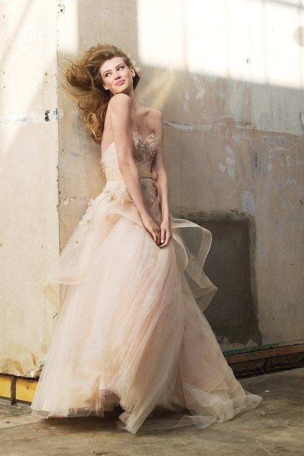 6 Non-White Bridal Gowns for Your Minneapolis Wedding | White bridal ...