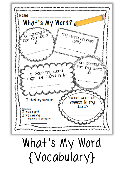 Vocabulary Building Worksheets : Vocabulary building activities free quot what s my word