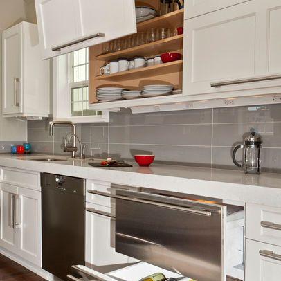 Pate de verre rectangulaire pose droite dosseret cuisine for Cuisine rectangulaire