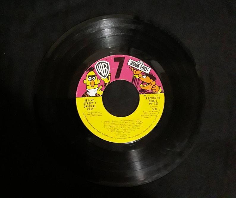 1970 S Sesame Street Vinyl Record Vintage Warner Brothers Etsy In 2020 Vinyl Records Records Vinyl
