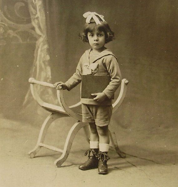 Vintage French Photo  Cute Child in a Sailor Suit by ChicEtChoc, $6.00