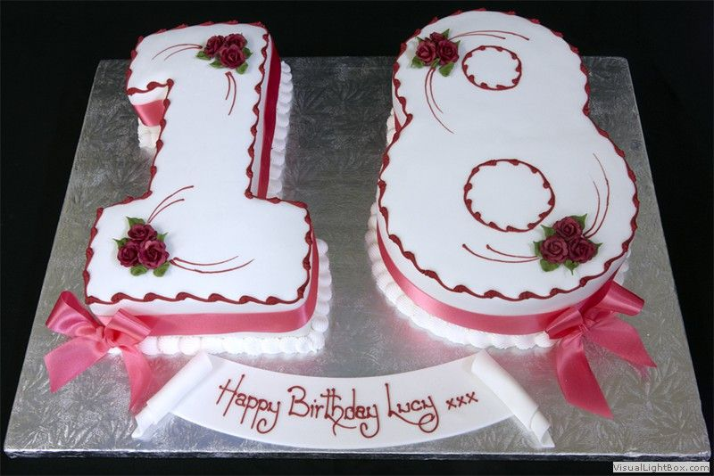 Number 18 Birthday Cakes Number 18 Birthday Cake London Cake