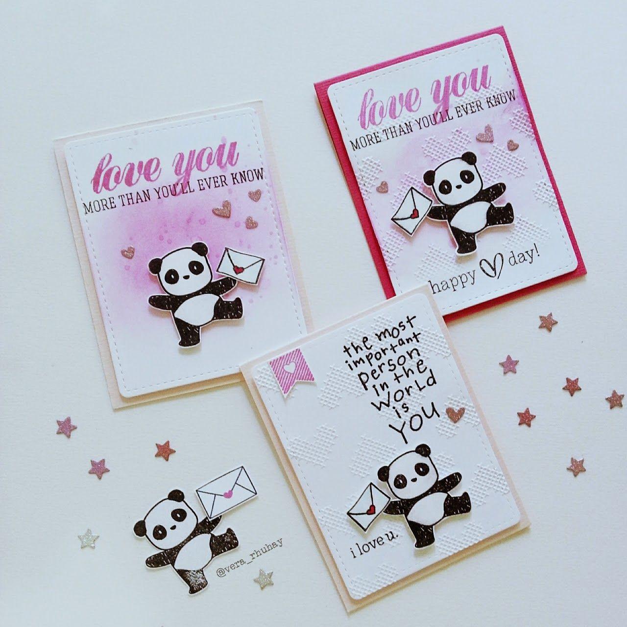 You Are My World Panda Love Greeting Card