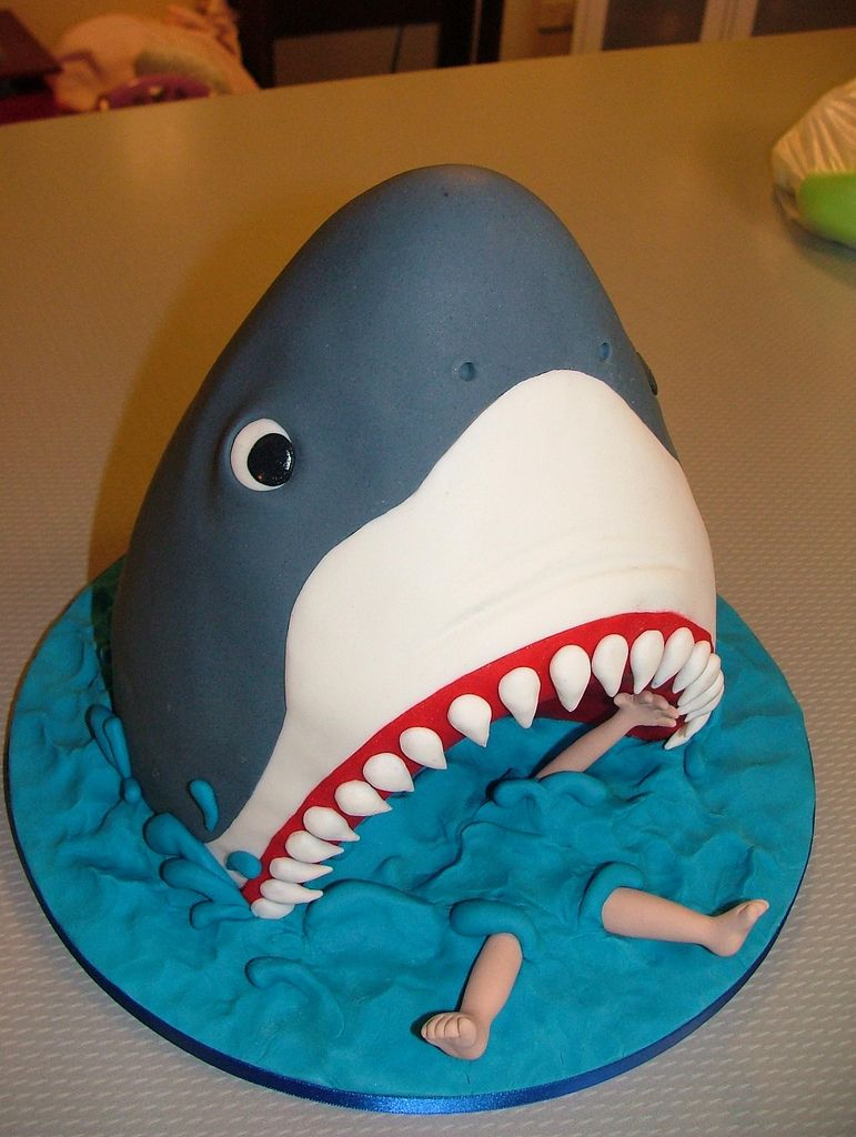 Here I Was Thinking Would Be Doing A Girly Cake And Katie Picked The Shark Out Of Debbie Browns Amazing New Book