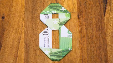 Zahl 8 Aus Geldscheinen Falten Origami Geldgeschenk Nummer 810