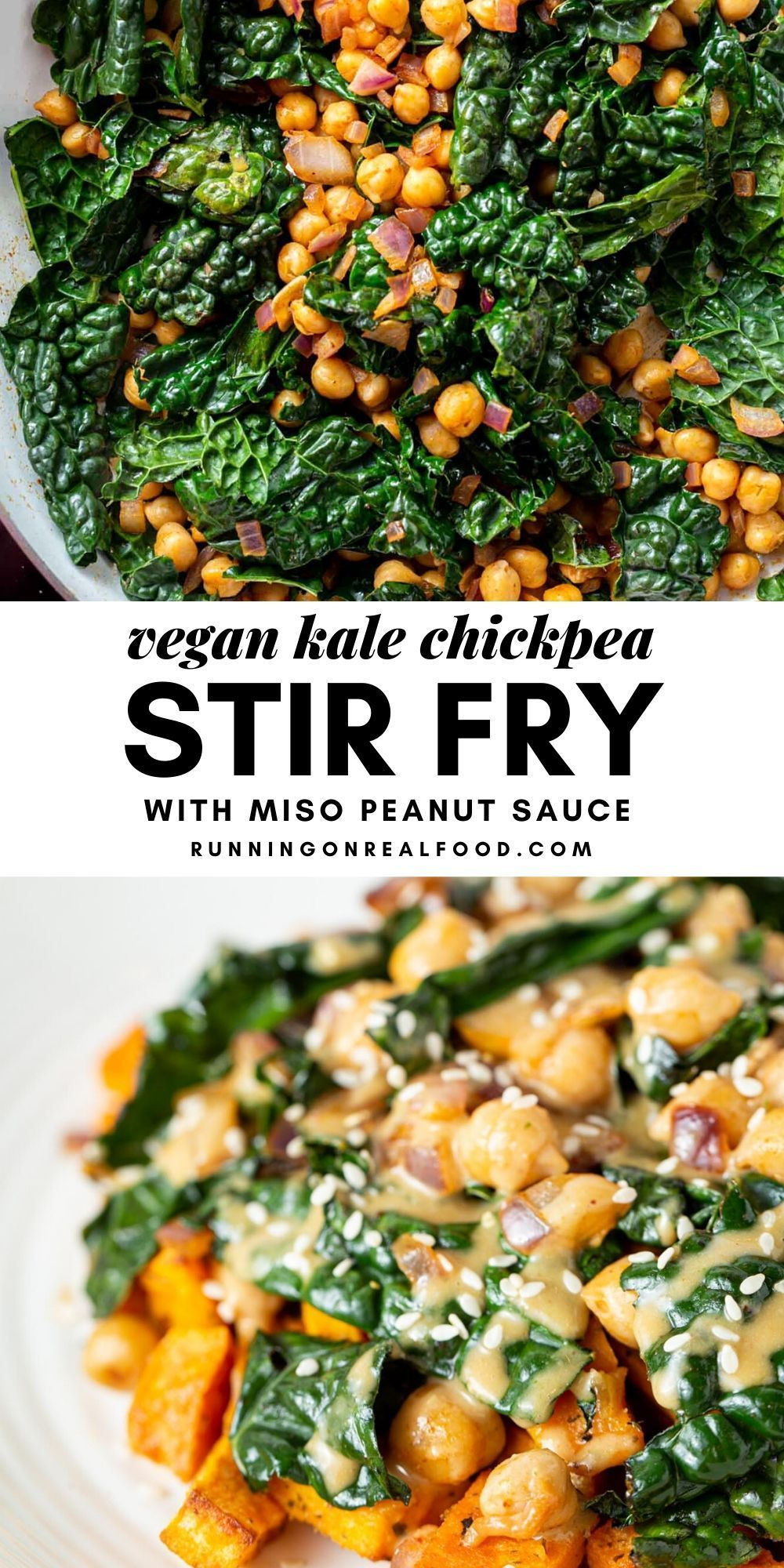 Vegan Kale Chickpea Stir Fry