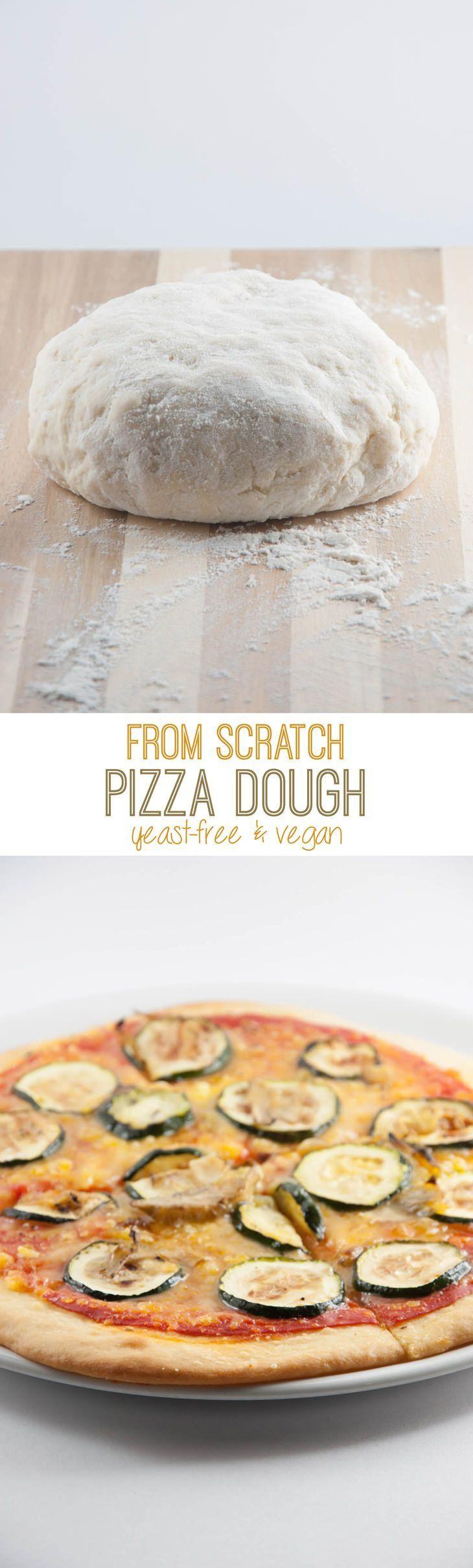 Yeast-Free Vegan Pizza Dough | http://ElephantasticVegan.com | Vegan ...