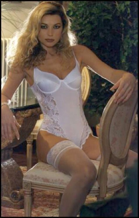 a1346ff099 Bridal Satin Teddy Basque-Body with Stockings - Vintage Lingerie ...