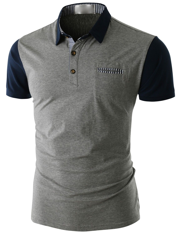 Doublju Mens Short Sleeve Pocket Polo Shirt Cmtts014 Doublju