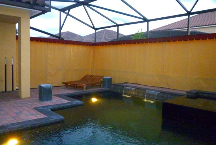 Custom Outdoor Privacy Curtains For Your Pool Area Or Lanai Outdoor Curtains Outdoor Privacy Pool