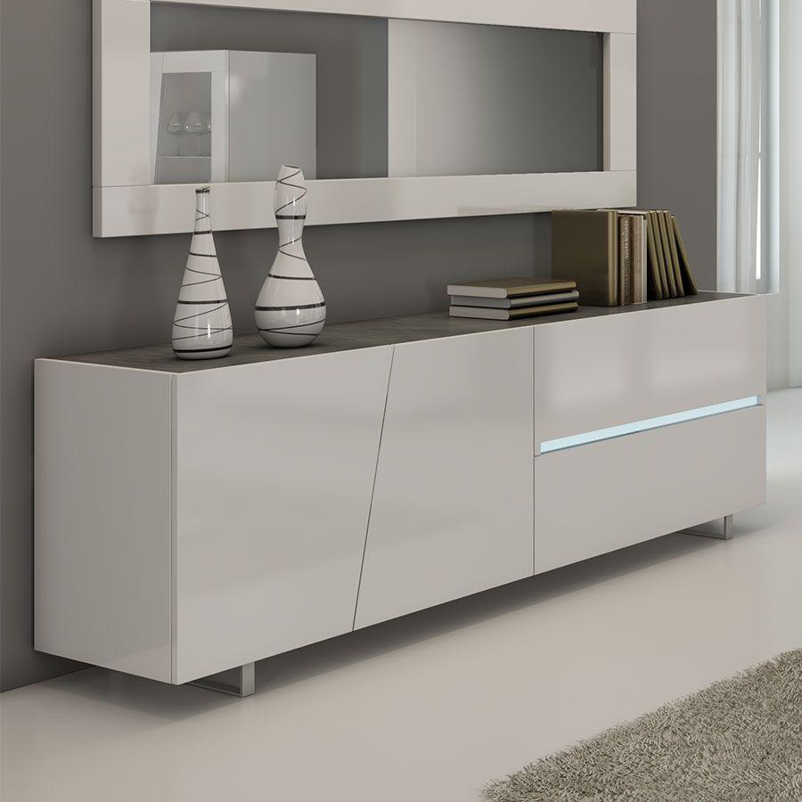 Baut Blanc Laque Design Zola Meuble Salle A Manger Buffet Salle A Manger Buffet Design