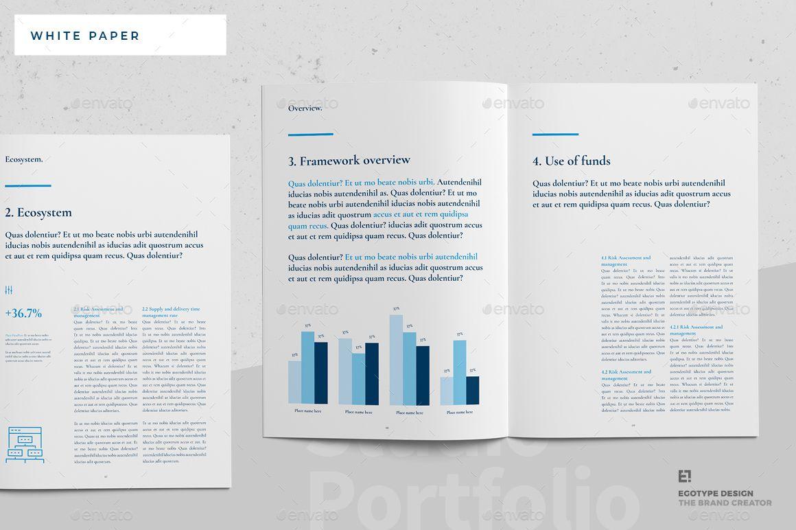 White Paper Ad White Ad Paper Paper Template Design
