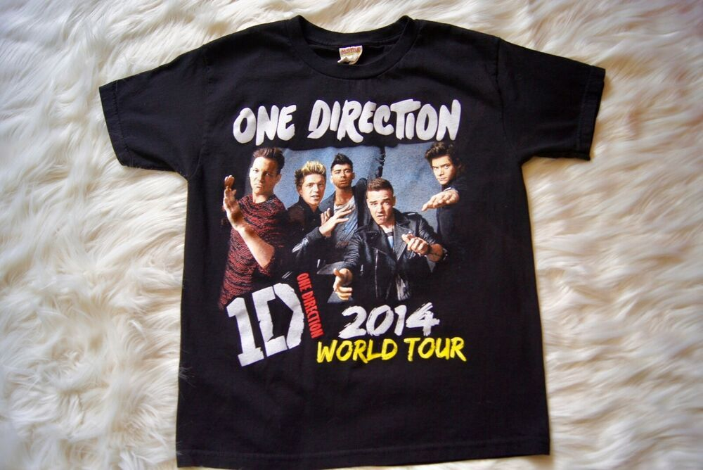 (eBay Sponsored) One Direction Concert T Shirt 2014 1D World Tour 100% Cotton Black Youth M #onedirection2014