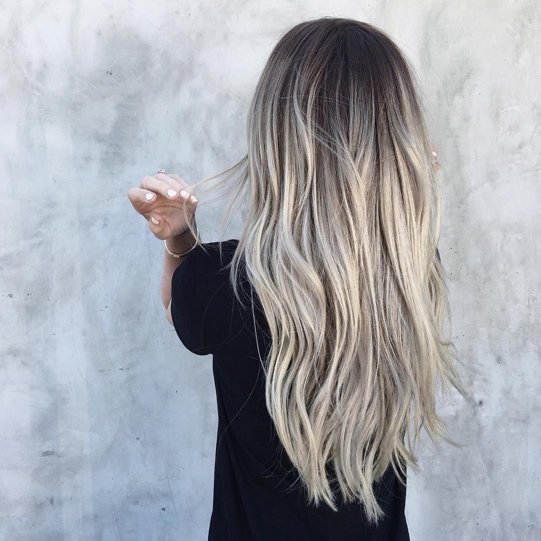 Pin By N F Pinterest On Hair Nf Dark Roots Blonde Hair Ash
