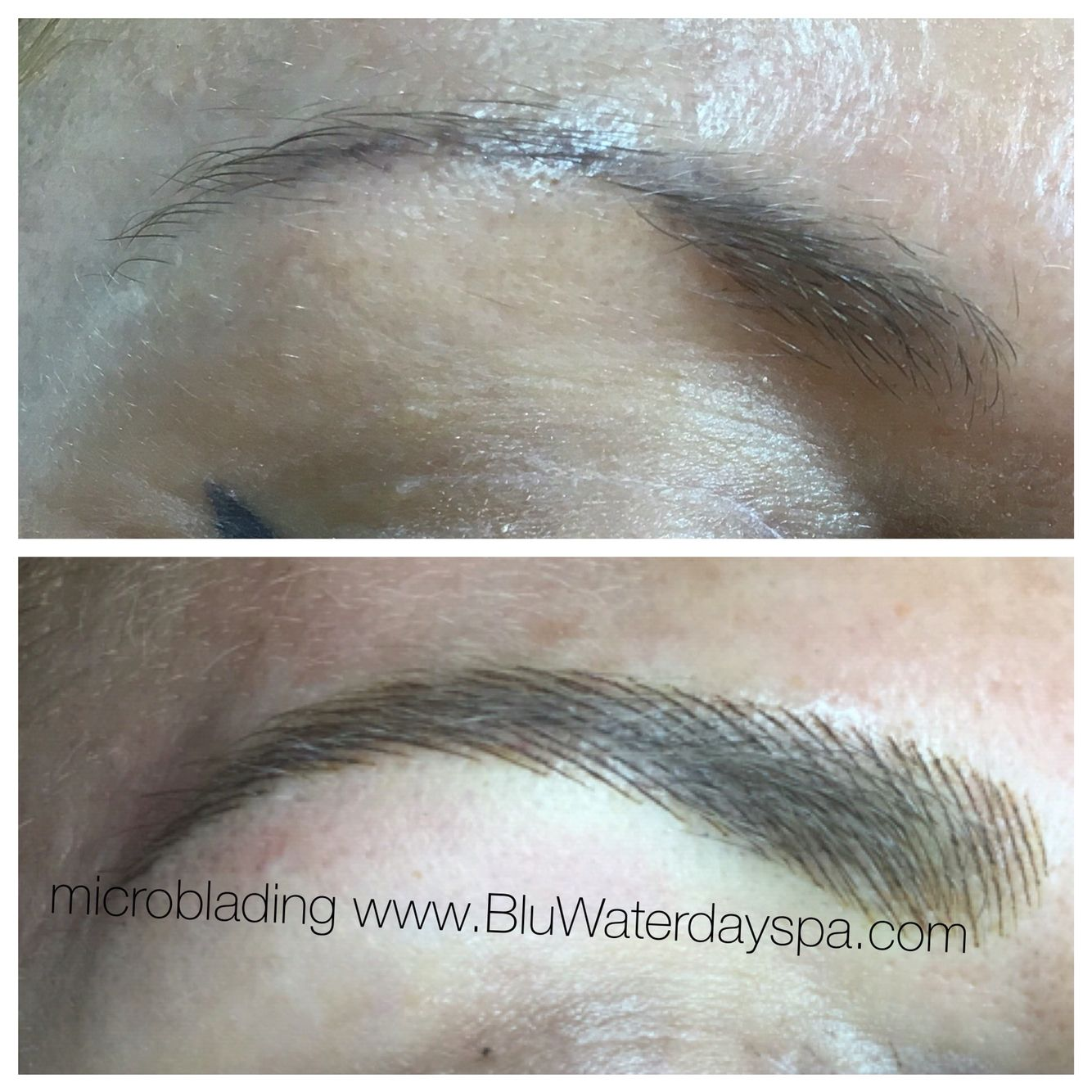 Microblading eyebrows by Blu Water Day Spa & Salon on