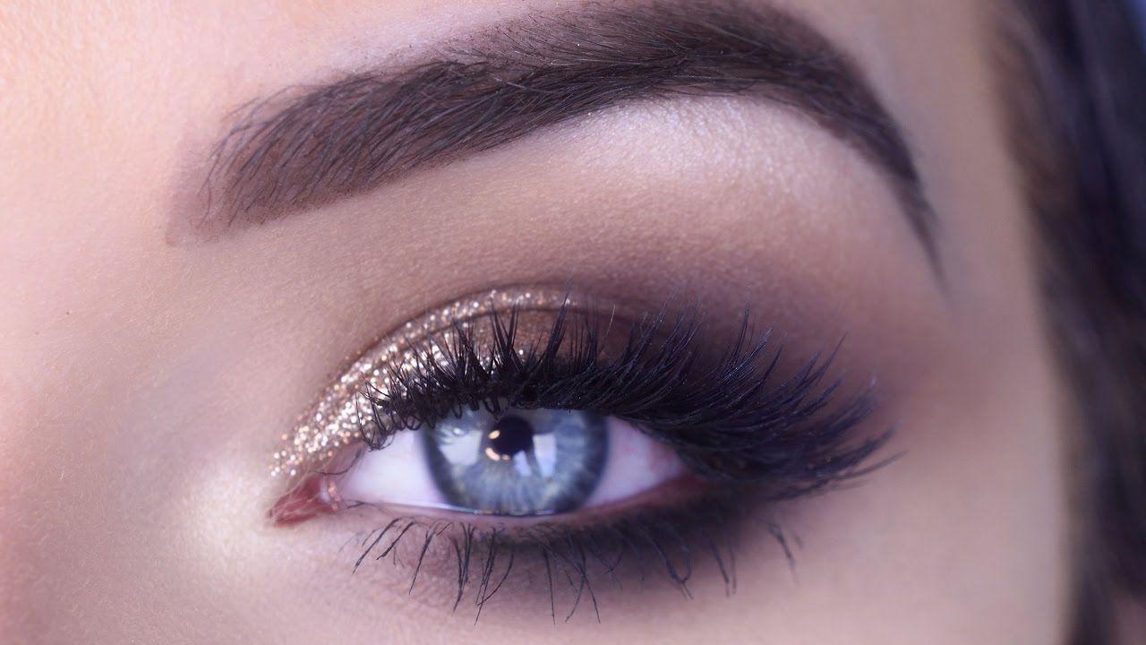 Easy Prom Eye Makeup Tutorial Bronze Glitter Smokey Eye Prom Eye Makeup Eye Makeup Tutorial Eye Makeup