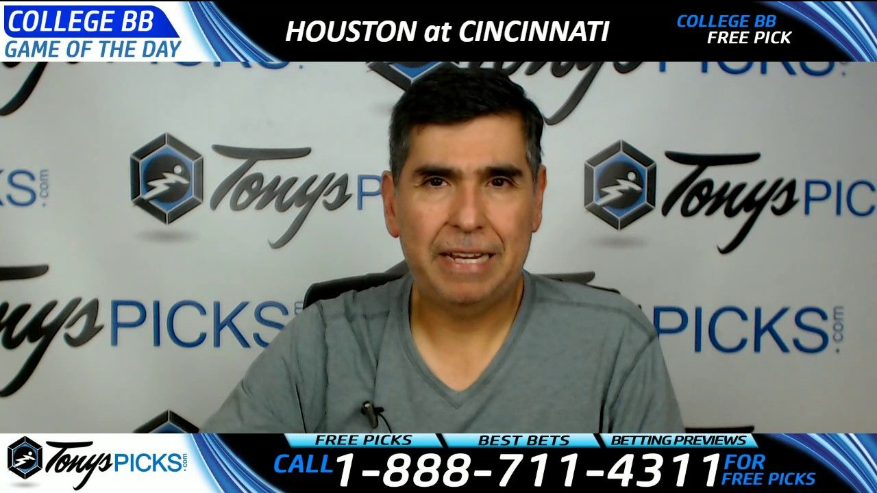 Houston Vs Cincinnati Free Ncaa Basketball Picks And Predictions 3 2 17 Baseball Picks Ncaa Basketball Mlb Baseball